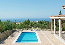 Resale villa for sale in North Cyprus with breathtaking sae view and private pool