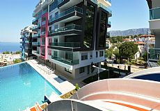 Beach front luxury property for sale in Alanya Kargicak - 8
