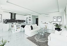 Luxury Beach Front 3 Bedroom Furnished Apartment For Sale in Alanya Kestel  - 2